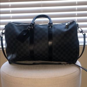 Louis Vuitton keepall damier graphite duffle
